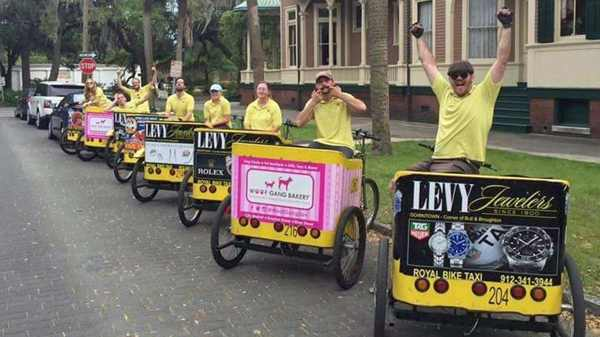 Royal Bike Taxi - Make a bachelorette train through town - Savannah Georgia