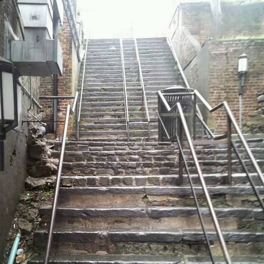 The infamous Stone Stairs of Death - Savannah Ga