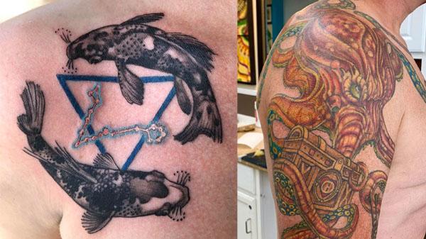 kraken tattoo on shoulder